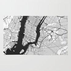 New York Map Gray Rug