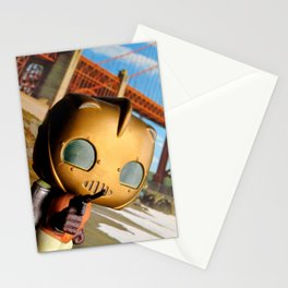 The Rocketeer at the Golden Bridge (USA) Collage Pop! Toy Photography Stationery Cards