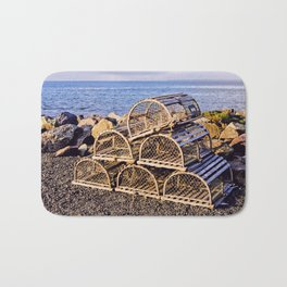 Lobster Traps Bath Mat