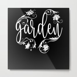 Garden Flower Motif Metal Print