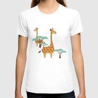 giraffes T-shirts featuring Giraffes by BlueLela
