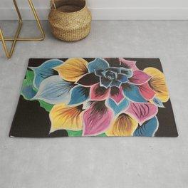 Colourful Flower by Noelle's Art Loft Rug