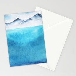 Watercolor landscape sky clouds Stationery Cards