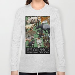 Save Our Species: Vanishing Mammals of the World Long Sleeve T-shirt