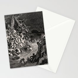 World Destroyed by Water Gustave Dore, 1866 Stationery Cards