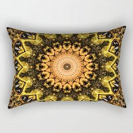 Gold Star Bohemian Mandala Design Rectangular Pillow