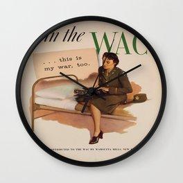 Vintage poster - WAC Wall Clock