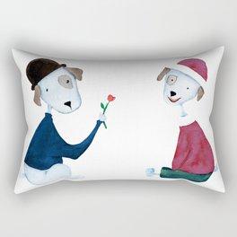 Cute Dogs - PAINTED Rectangular Pillow