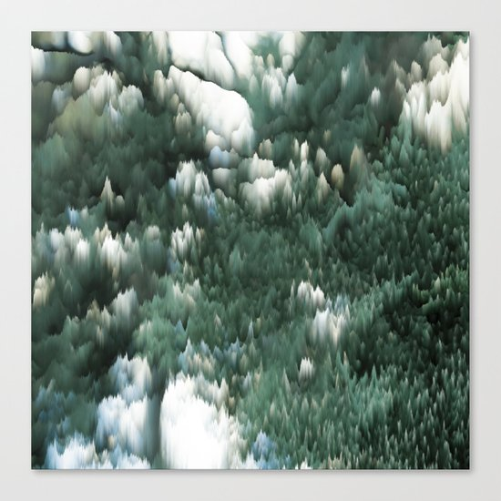 Ice and green Canvas Print