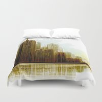 cityscape Duvet Covers featuring Cityscape by Robin Curtiss