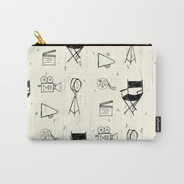 Filmmaking Pattern // Ink Drawing Carry-All Pouch