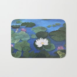 Hide and Seek with Frog and Dragonfly Bath Mat