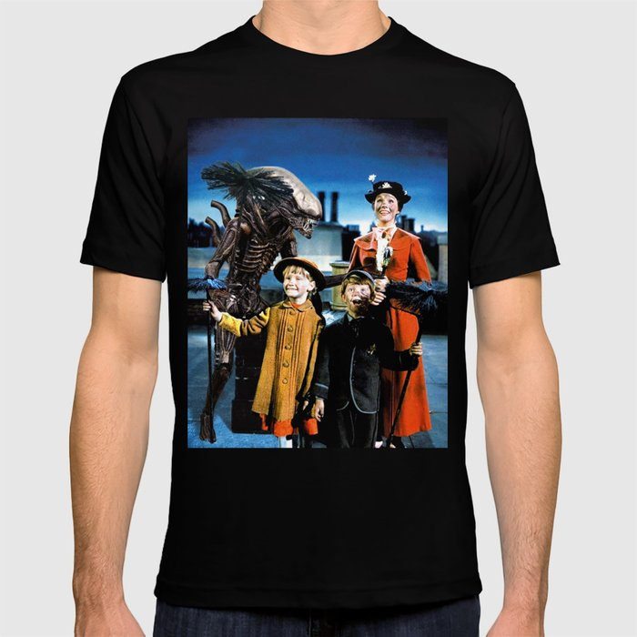 Alien in Mary Poppins T-shirt