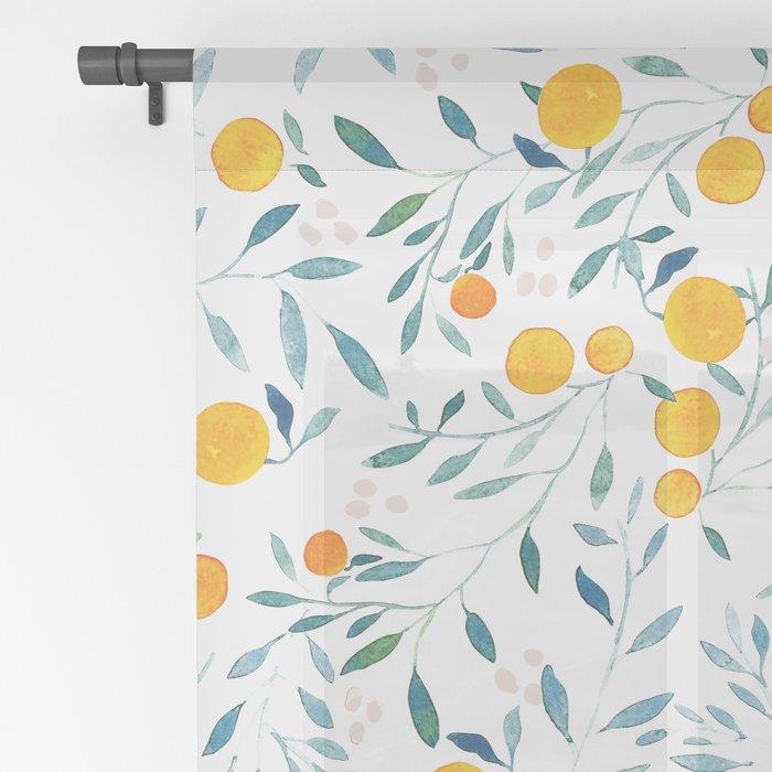 Orange Tree Sheer Curtain