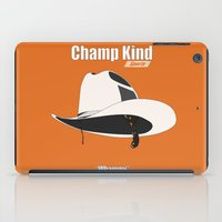 anchorman iPad Cases featuring Champ Kind: Sports by BC Arts