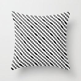 Dense Diagonal Streamline Throw Pillow