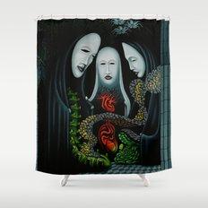 Living Through Secrets / Terms of Precedence Shower Curtain