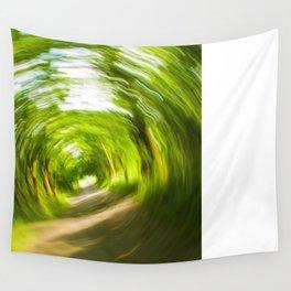 Green Vortex Wall Tapestry