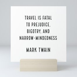 Mark Twain on Travel Mini Art Print