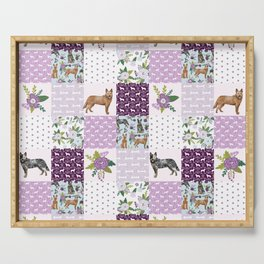 Australian Cattle Dog cheater quilt pattern dog lovers by pet friendly Serving Tray