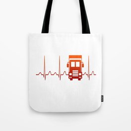 TRUCK DRIVER HEARTBEAT Tote Bag