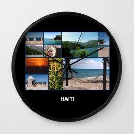 Colorful Photo Collage of Labadee, Haiti Wall Clock