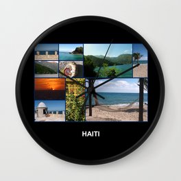 Colorful Photo Collage of Labadee, Haiti Wall Clock