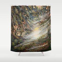light barriers Shower Curtain