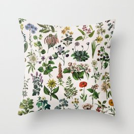 vintage botanical print Throw Pillow