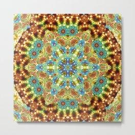 Trance Mandala Metal Print