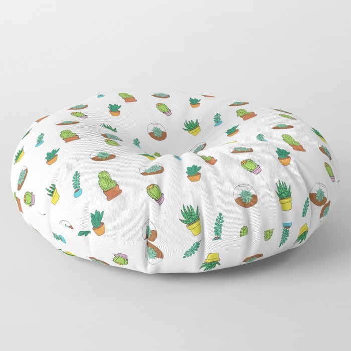 Succulent Pattern Floor Pillow