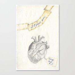 Wise heart Canvas Print