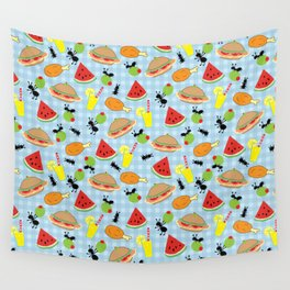 Funny Picnic Food Wall Tapestry