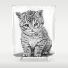 Kitty drawing Shower Curtain