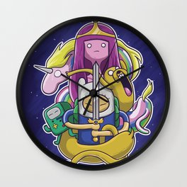 Fin and Friends Wall Clock
