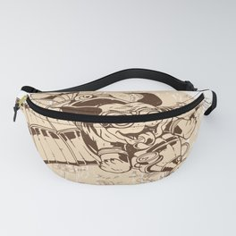Puppy flying aircraft Fanny Pack