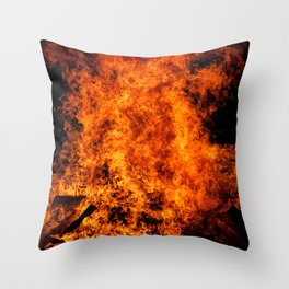 Burning Fire Throw Pillow