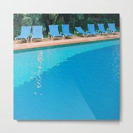 poolside Metal Print