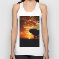 dragon Tank Tops featuring Firey Dragon  by Chris' Landscape Images & Designs
