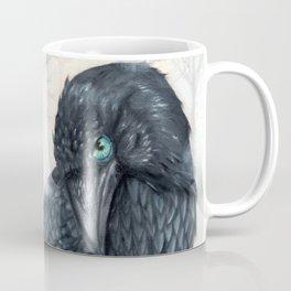 El ve a través del cuervo y controla la niebla Coffee Mug