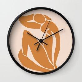 Henri Matisse Print - Abstract Art Poster -  Nude Minimalist Illustration LADY KNELT | large matisse | Modern Art | Nude Art | Feminist Wall Clock