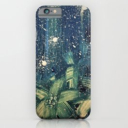 expressiv blue and yellow starry night iPhone Case