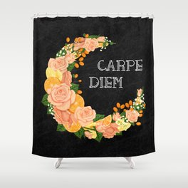Crescent bloom | Oranges and roses Shower Curtain