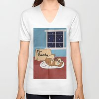 hamster V-neck T-shirts featuring Hamster Cookies by ne11amae