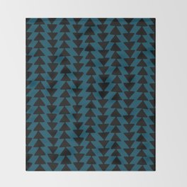 Blue Arrows Throw Blanket