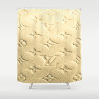 "louis Shower Curtains featuring LOUIS V by ""CVogiatzi."