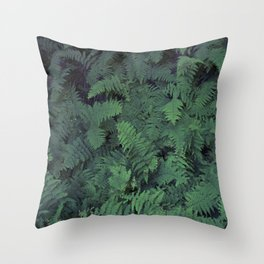Fern Leaf Pattern Throw Pillow