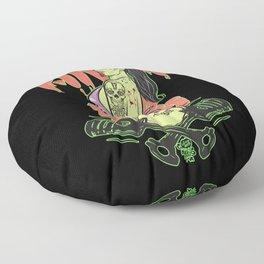 Zombie Hotrod Pinup Floor Pillow