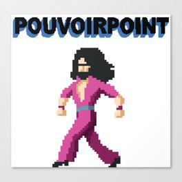 POUVOIRPOINT pixel Captain (black) Canvas Print