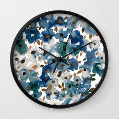 Georgia Floral Blue Wall Clock